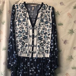 Anthropologie TINY Dress Embroidered Flowers
